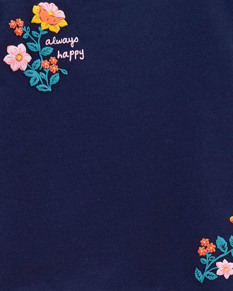 Ensemble 2 pièces haut en jersey bouclette volanté et legging fleuri, , hi-res