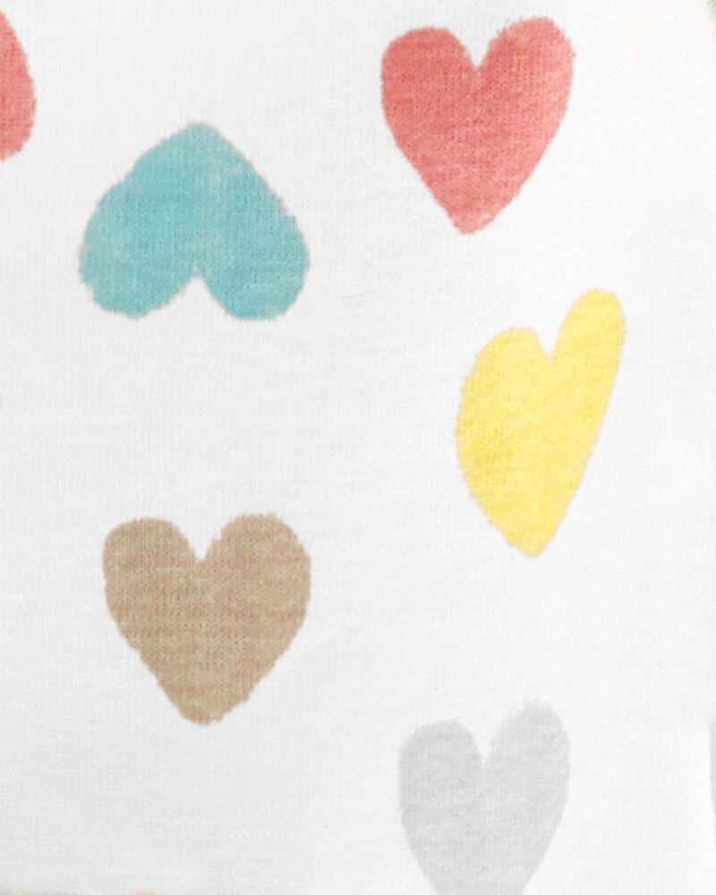 4-Piece Hearts 100% Snug Fit Cotton PJs, , hi-res