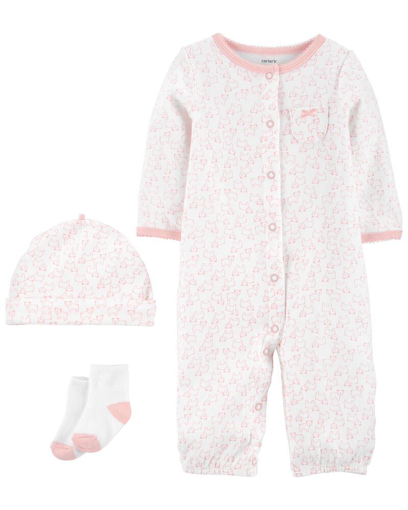 3-Piece Take-Me-Home Converter Gown Set, , hi-res