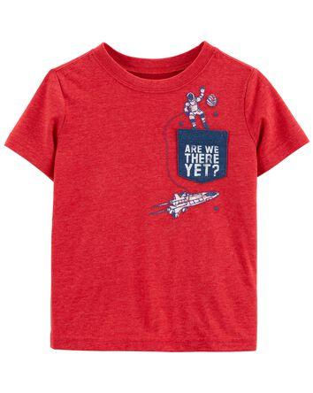 T-shirt à poche avec astronaute