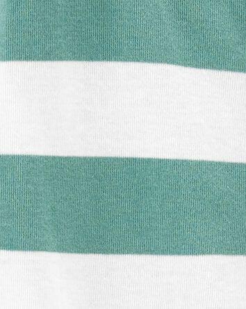 Striped Snap-Up Cotton Sleep & Play