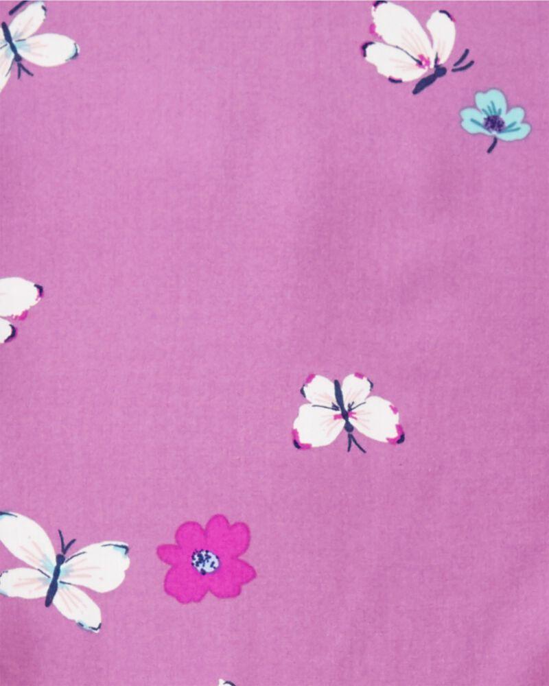 Robe en viscose à fleurs et papillons, , hi-res