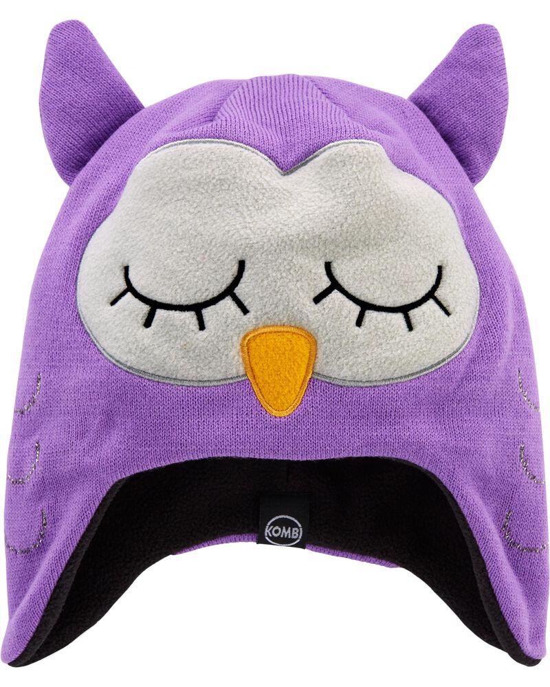 Kombi Fleece-Lined Olivia The Owl Knit Hat, , hi-res
