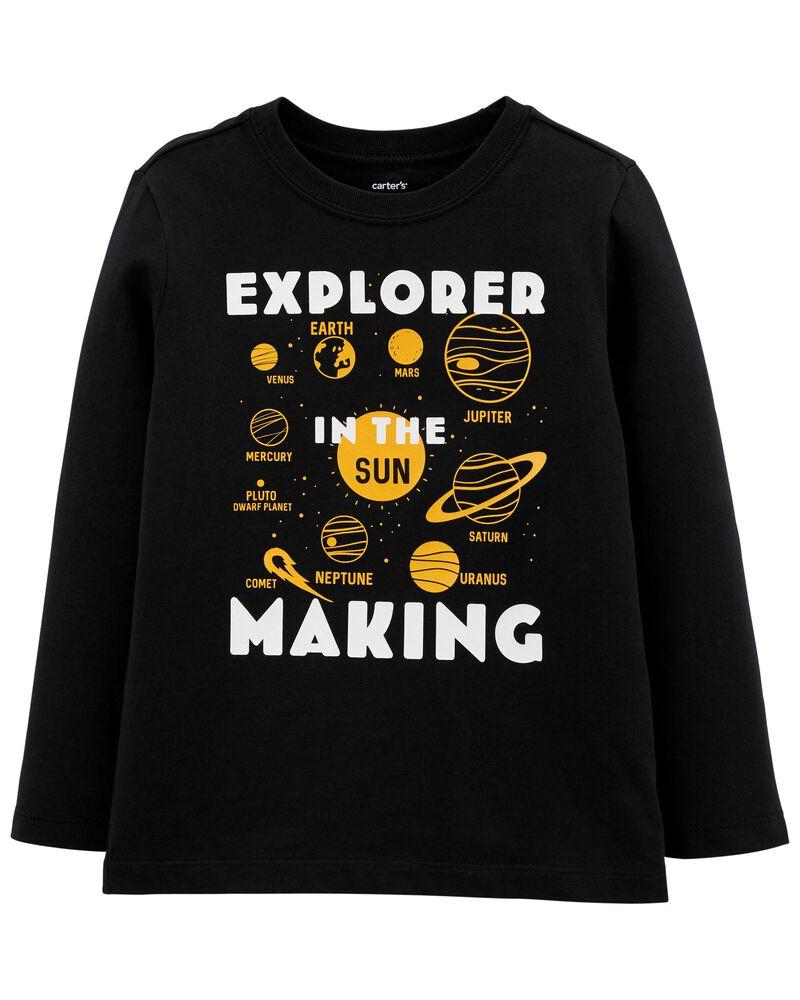 T-shirt en jersey à motif de l'espace, , hi-res
