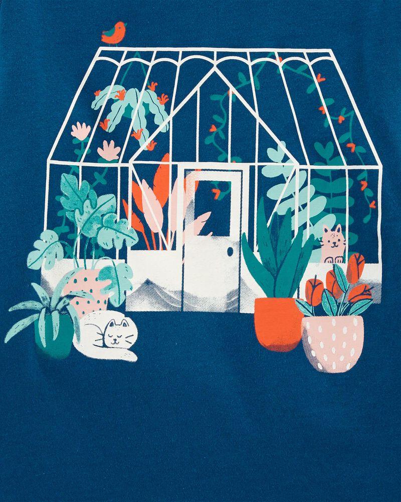 T-shirt en jersey Green House, , hi-res