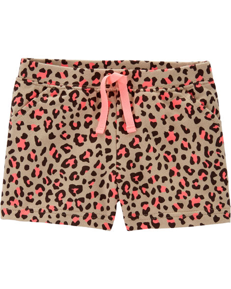 Leopard Print French Terry Short