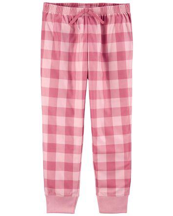 Pantalon pyjama en molleton à motif...