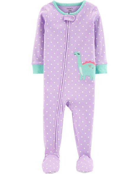 1-Piece Dinosaur Snug Fit Cotton PJs