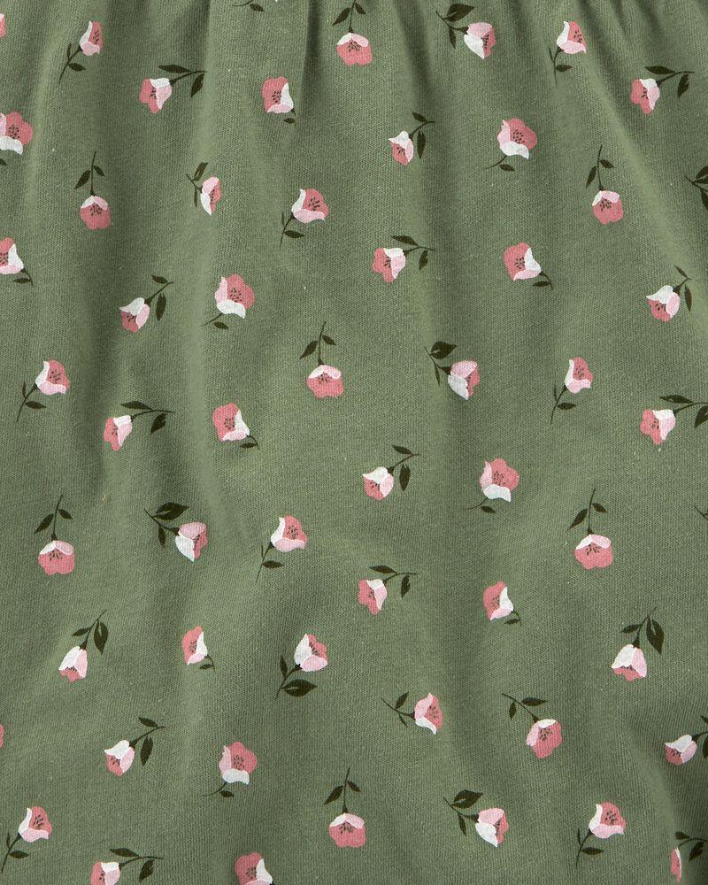 Barboteuse en coton fleuri, , hi-res