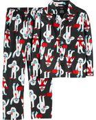 2-Piece Abominable Snowman Coat Style Fleece PJs, , hi-res