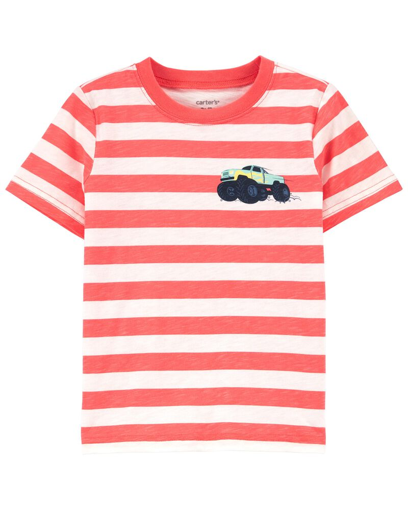 T-shirt en jersey rayé à camion, , hi-res