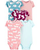 5-Pack Short-Sleeve Original Bodysuits, , hi-res