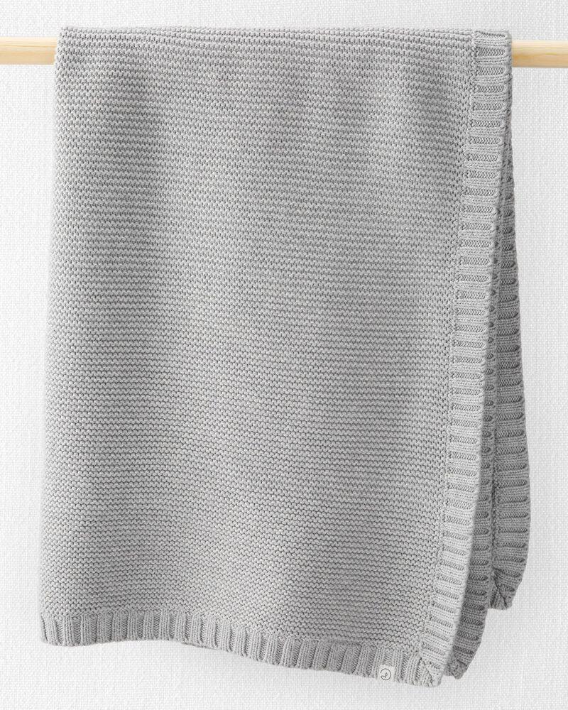 Couverture à point de nœud en coton biologique , , hi-res