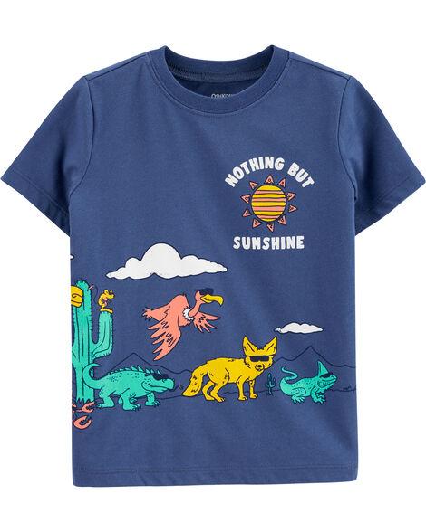 T-shirt à paillettes réversible iguane surfeur