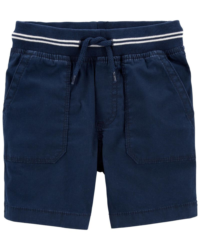 Pull-On Stretch Canvas Shorts, , hi-res