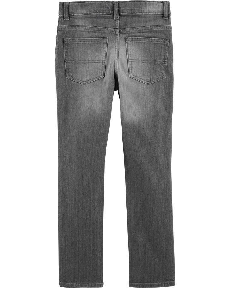 Jeans fuseau - délavage gris crépuscule, , hi-res