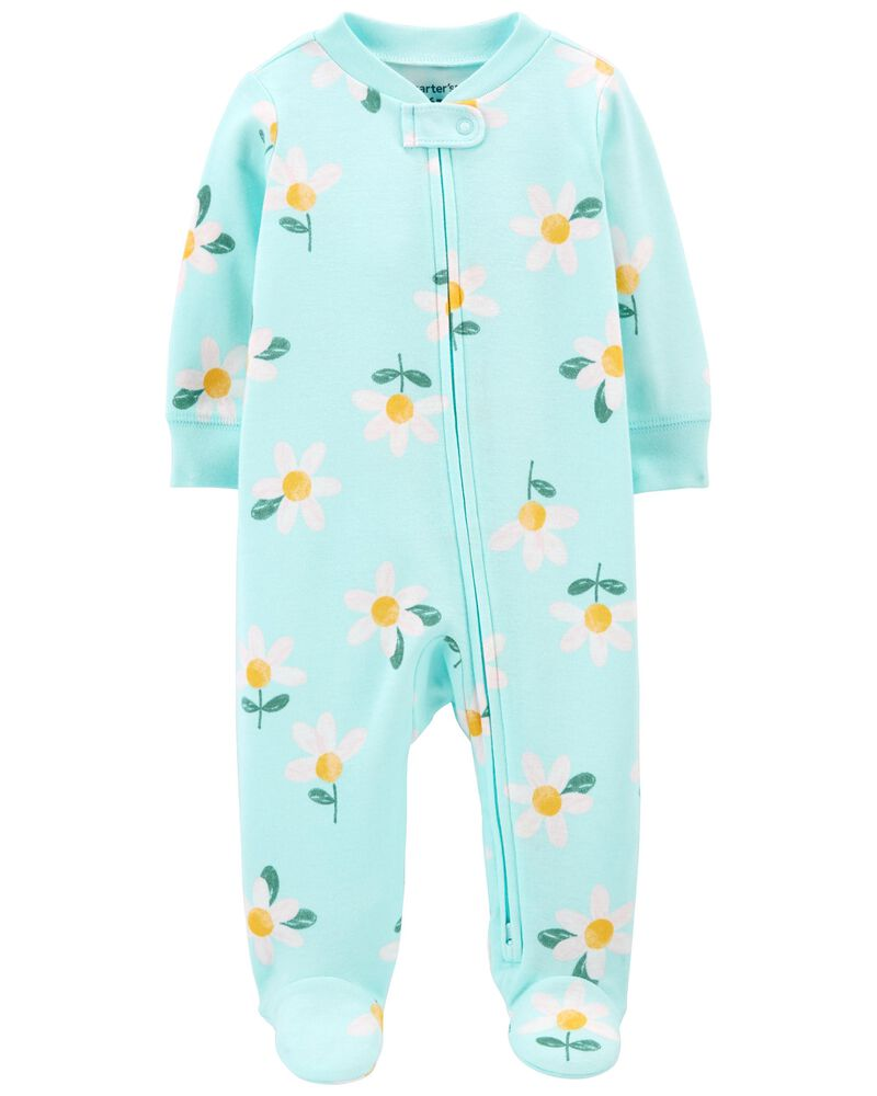 Daisy 2-Way Zip Cotton Sleep & Play, , hi-res