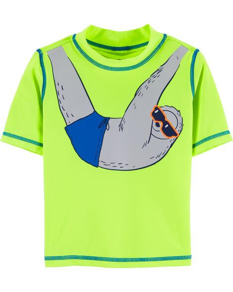 Neon Sloth  Rashguard