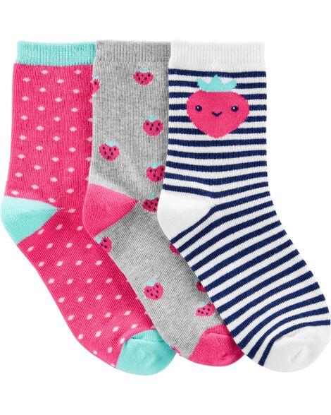 3-Pack Strawberry Ankle Socks