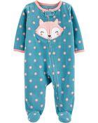 Fox Zip-Up Fleece Sleep & Play, , hi-res