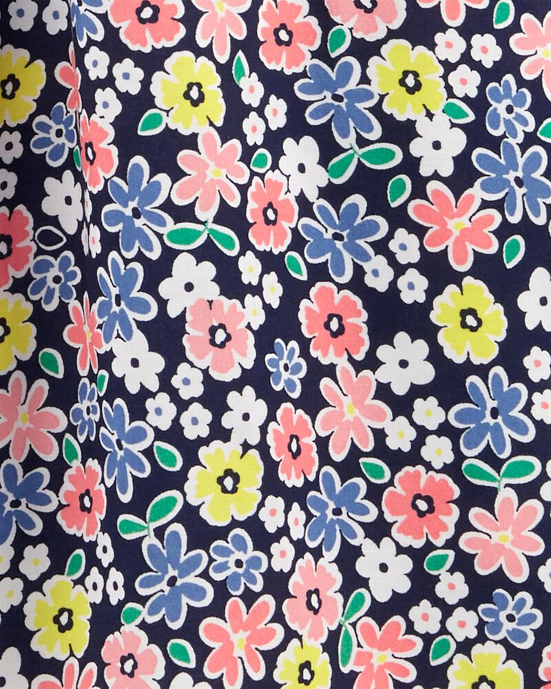 Robe en popeline fleurie, , hi-res