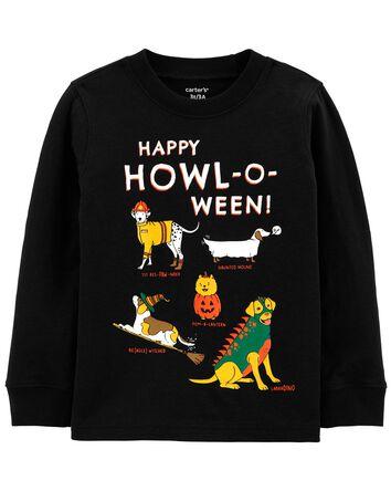 T-shirt en jersey à chien d'Hallowe...