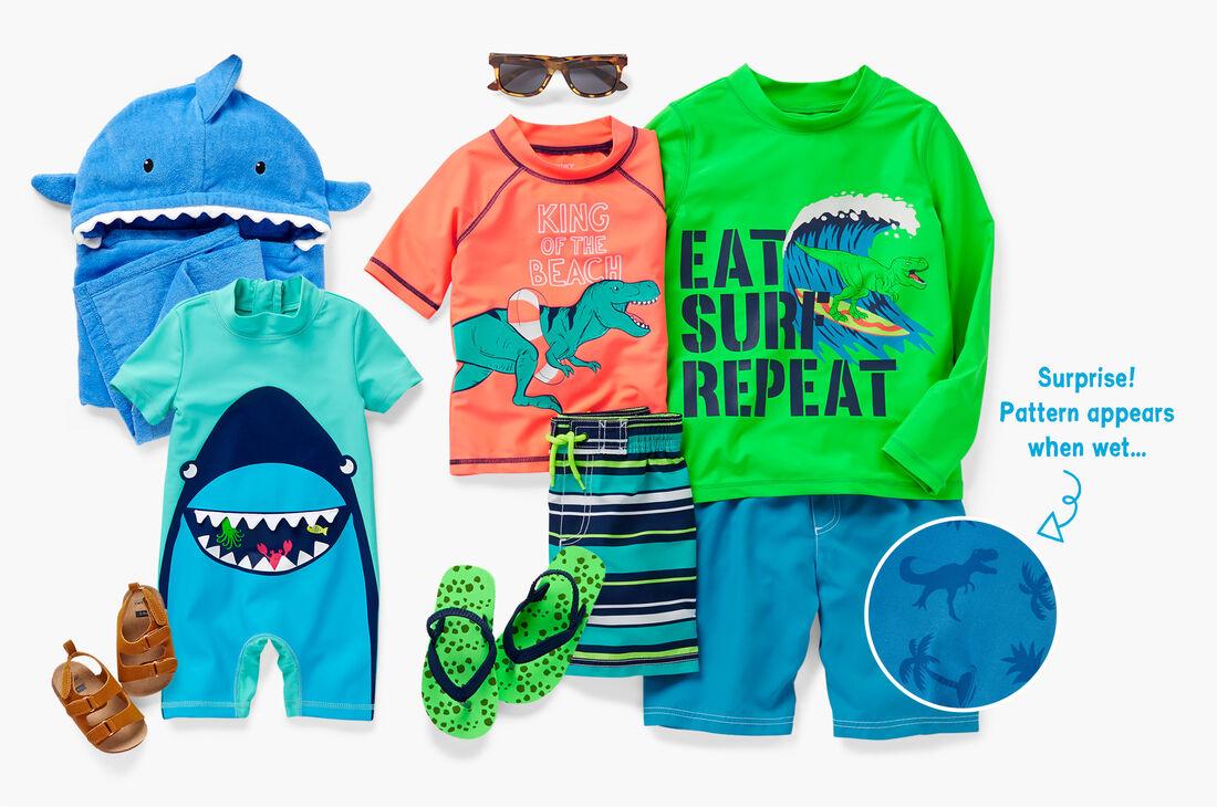 CAR_Boys-Swim_Shark-Dino, , hi-res