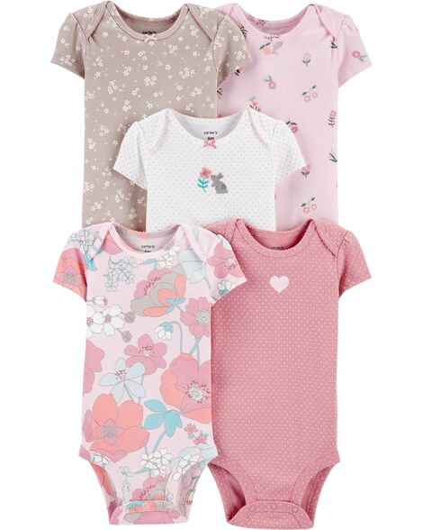 5-Pack Floral Original Bodysuits