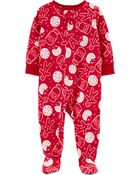 Pyjama 1 pièce en molleton avec biscuit, , hi-res