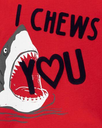 T-shirt en jersey I heart chew