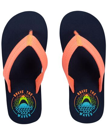 Brave The Waves Flip Flops