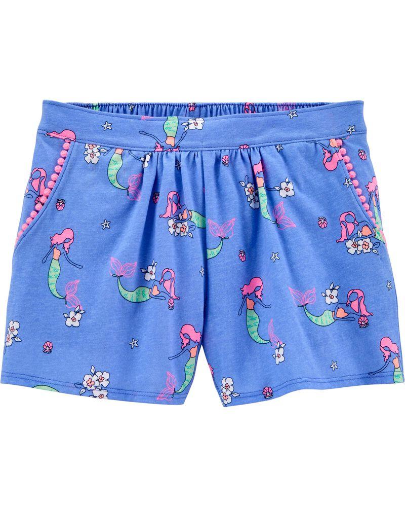 Mermaid Pom Pom Shorts, , hi-res