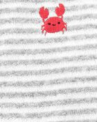 Crab Snap-Up Terry Sleep & Play, , hi-res