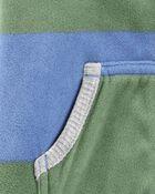 Striped Zip-Up Fleece Jumpsuit, , hi-res