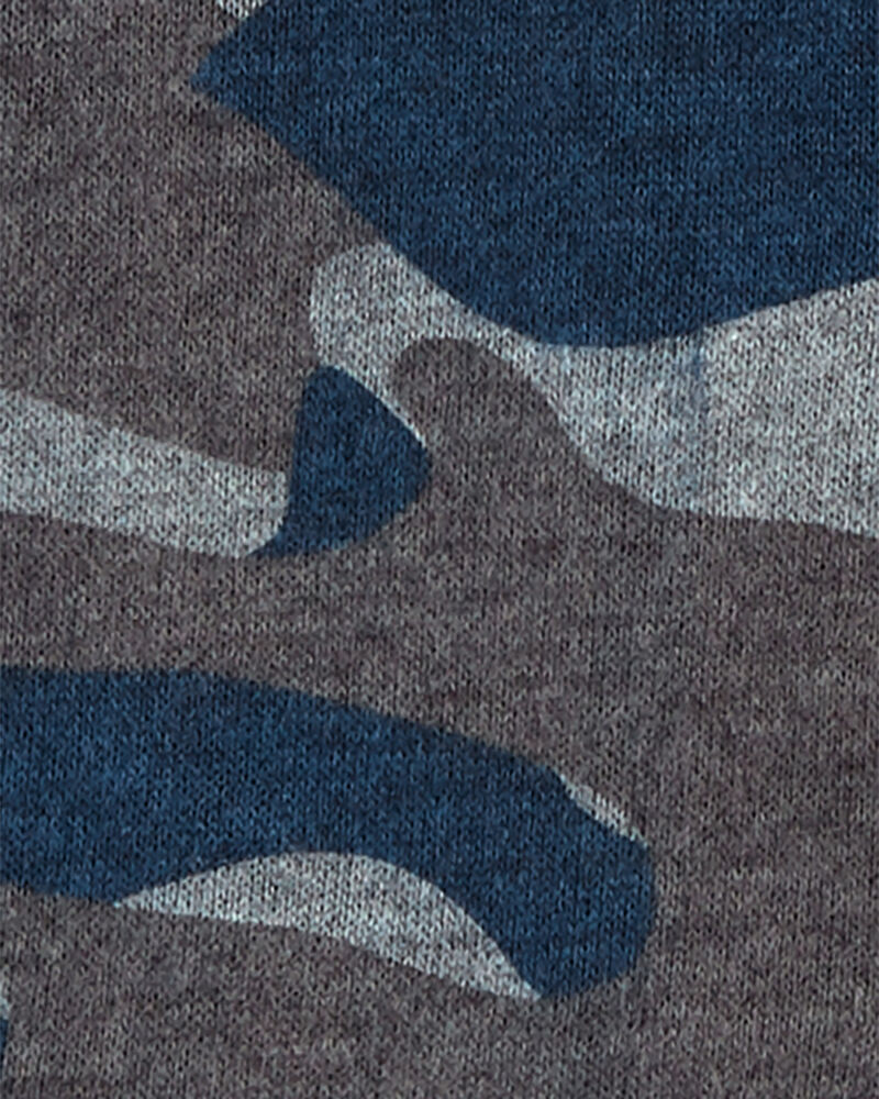 Kangourou en molleton à imprimé camouflage, , hi-res