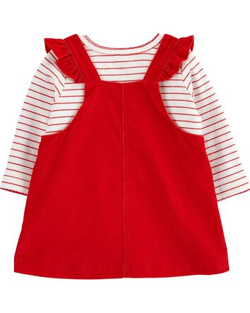 3-Piece Striped Tee & Santa Jumper...