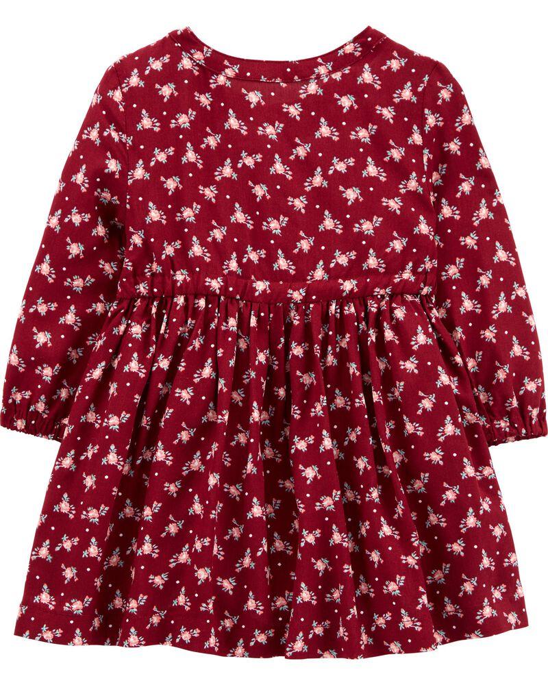Floral Poplin Dress, , hi-res