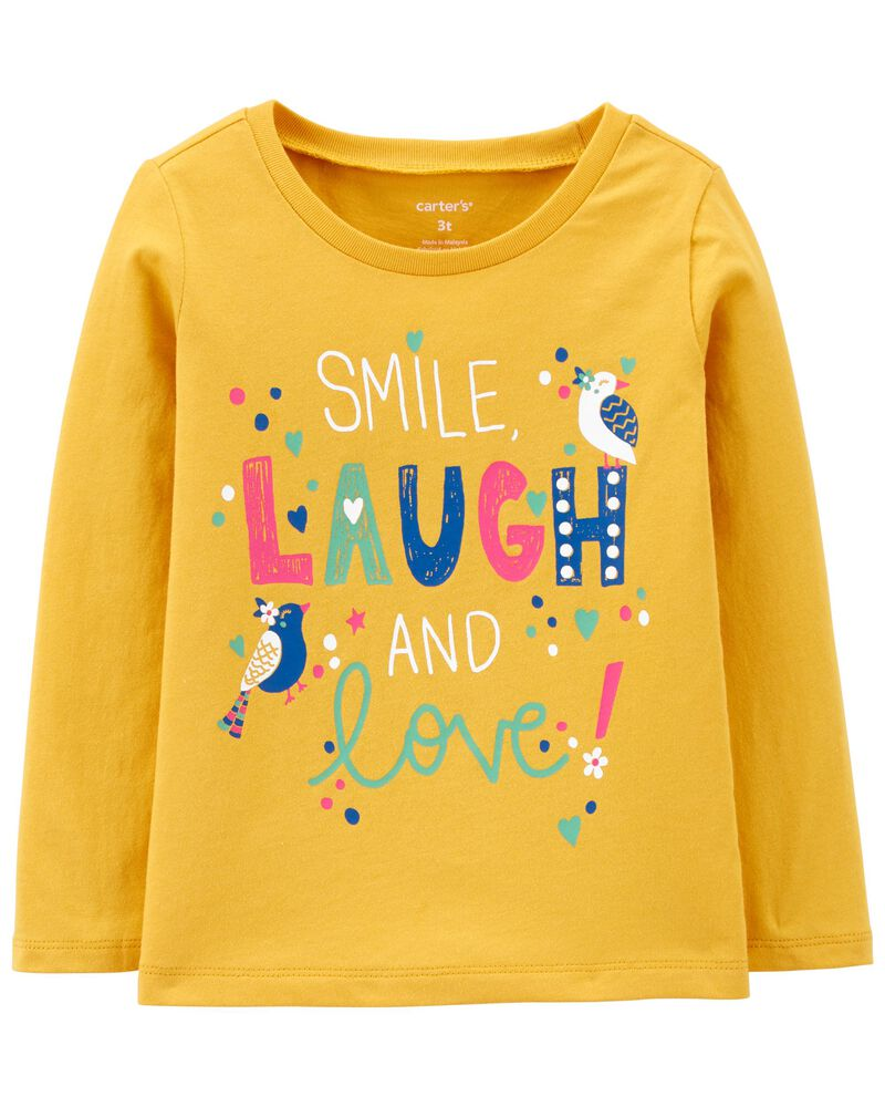 Smile Laugh & Love Jersey Tee, , hi-res