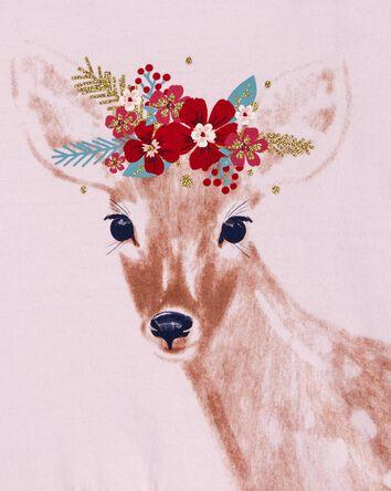 Deer Hooded Jersey Tee