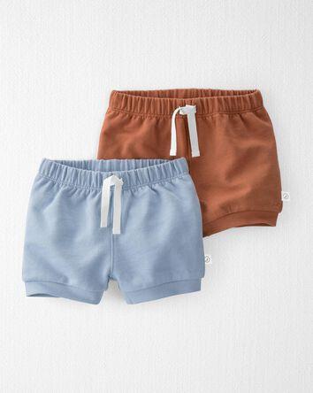 Emballage de 2 shorts en tricot dou...