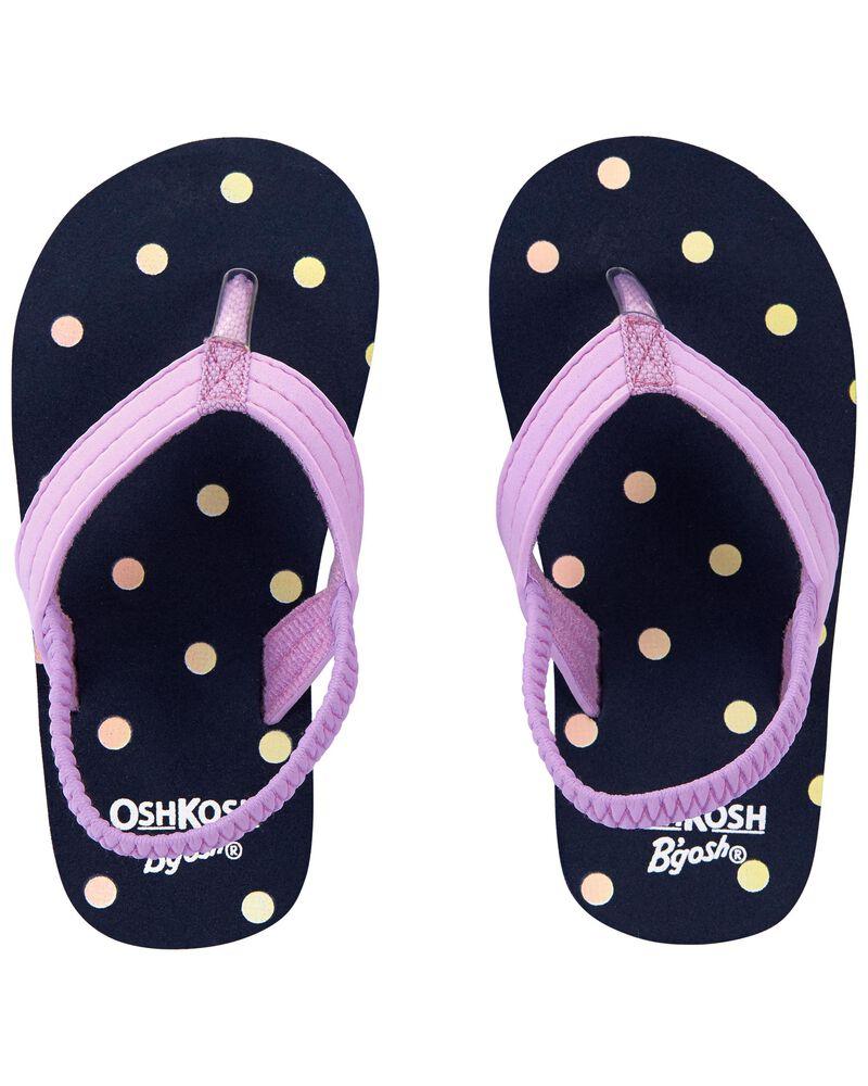Polka Dot Flip Flops, , hi-res