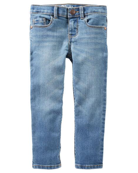 Jeans doux fuseau - délavage bleu Upstate