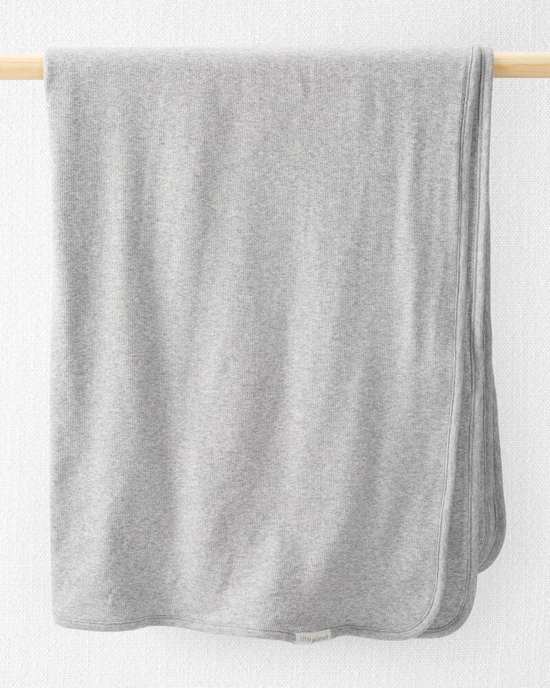Organic Cotton Rib Blanket, , hi-res