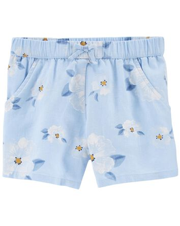 Floral Pull-On Shorts
