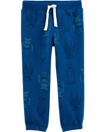 Robot Pull-On Fleece Pants