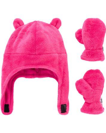 Kombi Plush Hat & Mitt Set