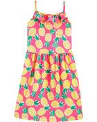 Pineapple Ruffle Tank Jersey Dress, , hi-res