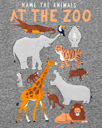 T-shirt en jersey chiné avec animau...