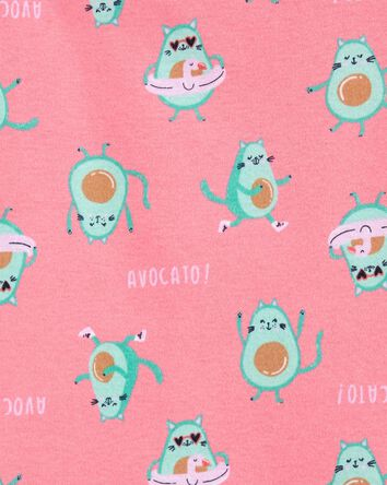 Pyjamas 4 pièces en coton ajusté av...