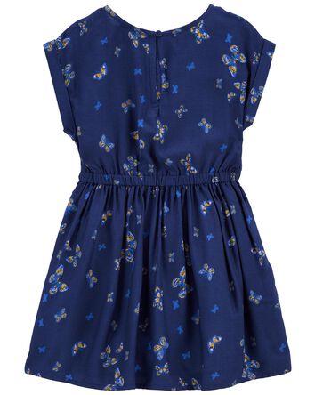 Indigo Butterfly Dress